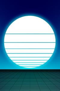 Synthwave Sun 8k