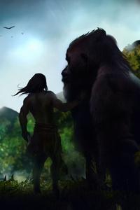 480x800 Tarzan Art 4k