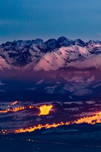 360x640 Tatra Mountains Snowy 5k