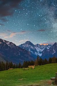 1080x2160 Tatras Mountains Milky Way