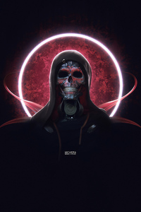 240x320 Techno Skull