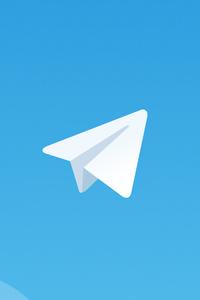 1080x1920 Telegram Logo Minimal 4k