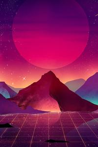 Terrain Vaporwave 4k