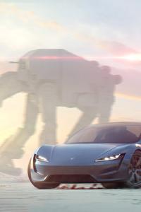 1080x2280 Tesla 4k New