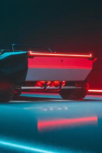 1440x2560 Tesla Cybertruck Rear View Concept 4k