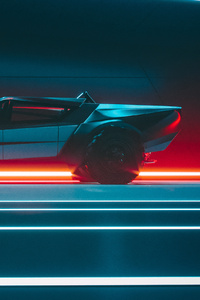 Tesla Cybertruck Side View Concept 4k