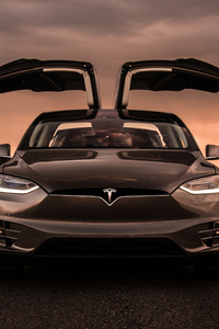 Tesla Model X Front 4k