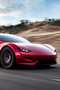 240x400 Tesla Roadster 4k
