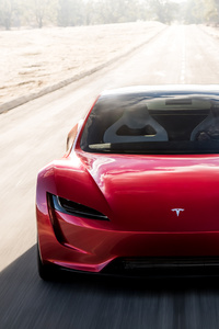 320x480 Tesla Roadster Front Look