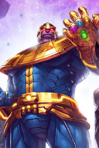 750x1334 Thanos And His Team Marvel Contest Of Champions
