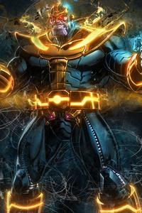 1125x2436 Thanos Artwork 4k