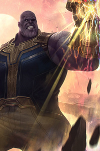 Thanos Avengers Endgame Art HD