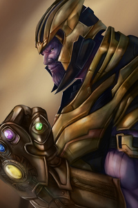 Thanos Avengers Endgame Art