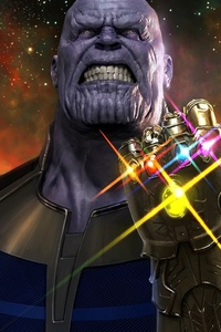 1242x2688 Thanos Avengers Infinity War