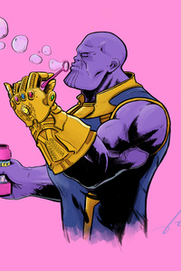 Thanos Blowing Bubbles