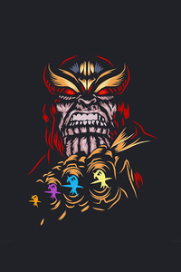 Thanos Dark Minimal 4k