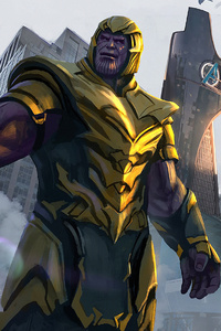 1440x2560 Thanos Destroyed Stark Tower
