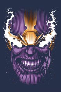 320x568 Thanos Face Minimal 4k