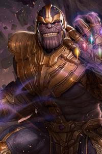 480x854 Thanos God Of Death 4k