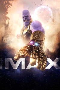 Thanos IMAX Avengers Infinity War Poster 2018