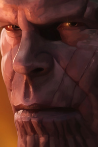 Thanos In Avengers Infinity War Artwork