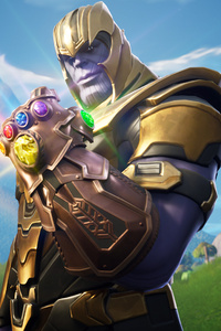 1080x2280 Thanos In Fortnite Battle Royale