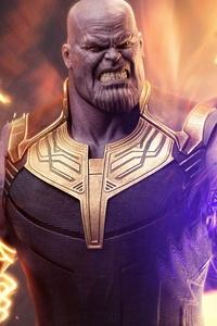 1242x2688 Thanos Infinity Gauntlet 5k