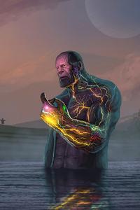 320x480 Thanos Infinity Stone 4k