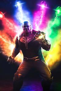 1080x1920 Thanos Infinity Stones 4k