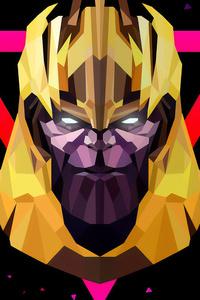 Thanos Low Poly Art