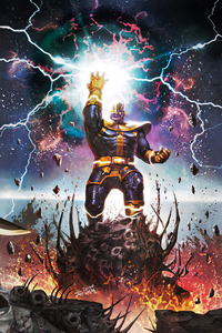 640x1136 Thanos Marvel Infinity