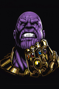 2160x3840 Thanos Minimal 4k