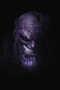 480x800 Thanos Minimalism 2020 4k