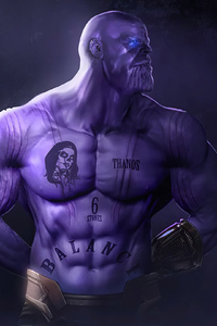 800x1280 Thanos Movie Artwork