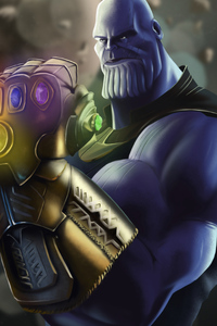 1080x1920 Thanos New 4k Art