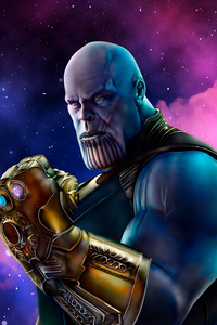 1440x2960 Thanos Sketch Art