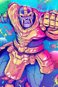 320x480 Thanos Sketchy Artwork