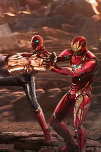 1280x2120 Thanos Vs Avengers