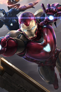 Thanos Vs Iron Man Team
