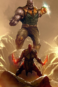 Thanos Vs Kratos