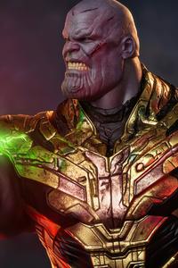320x568 Thanos With Iron Man Gauntlet