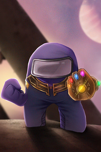 800x1280 Thanos X Among Us 5k
