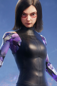1080x2280 The Alita Battle Angel Art4k
