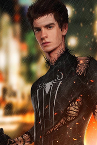 240x400 The Amazing Spider Man Black Suit 4k