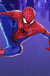 The Amazing Spider Man Suit In Spider Verse Style 4k