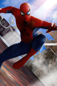 1125x2436 The Amazing Spiderman Comic Book Cover 5k