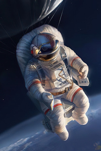 750x1334 The Ascention Astronaut 4k