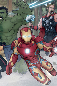 The Avengers Age Of Ultron Battle Scene Fanart