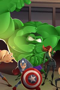 800x1280 The Avengers Art4k