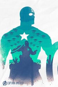 The Avengers Captain America Art